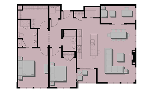Two Bedroom Condominiums